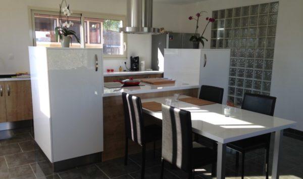 Projet d'ilot central de cuisine - Cliente dans le Lot