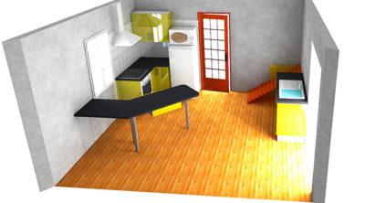 Optimisation des rangements et de la place dans une cuisine