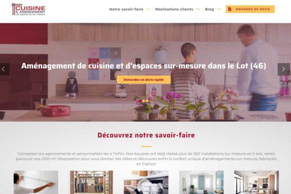 Nouveau site internet - Cuisine & Agencement
