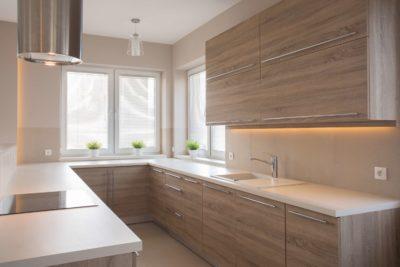 Le bois dans une cuisine moderne
